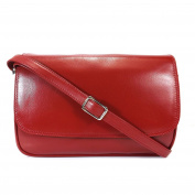 Gianni Conti Medium Classic Flap Front Bag - Red - Style