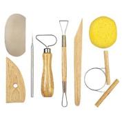 JSP..Lot of 5 Clay Pottery Tool Kits 8 Pc T Ceramics Wax Carving Sculpting Moulding