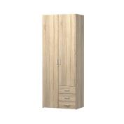 Tvilum 70425akak Space 3 Drawer & 2 Door Wardrobe, Oak Structure