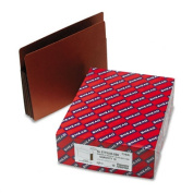 Smead Red Rope End-Tab File Pockets with Clrd Gussets