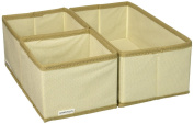 Greenco Non-Woven Foldable 3 Piece Drawer And Closet Storage Cube Set