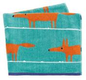 Scion MR Fox Beach Towel, Cotton, Turquoise, 160 x 190 x 0.2 cm