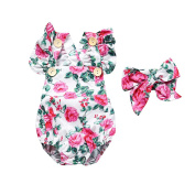 Gprince 2PCS Baby Girl Clothing Set Sleeveless Triangle Romper & Head Band Cute Costume Outfits Gift