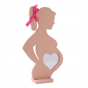 DIKEWANG Best Valentine's Day Gift Women Pregnant Wedding Wooden Photo FrameHome Decoration Body Props Table Decoration,Recording Beautiful Memory