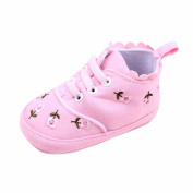 CHshe Baby Boys Girls Sole Outer Cotton Floral Print Lace-Up Shoe