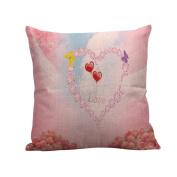 Happy Pillow Cases Linen Sofa Cushion Cover Home Decor Pillow Case