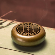 Yoga incense burner,Incense stick holder decorated censer for use with cone incense incense ash catcher tray bowl-A D3*H2inch