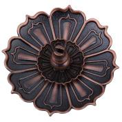 Lotus Incense Plate Holder Vintage Incense Burner Cover Bronze Lotus Flower and Gourd Shaped Incense Holder Decoration FengShui