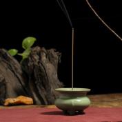 Retro incense burner,Ceramic creative incense thurible for home use or yoga room decor incense ash catcher tray bowl-A