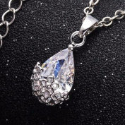 Infused Diamond Dust Necklace in Platinum or 18K Gold Plating Platinum