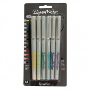 SPEEDBALL ART PRODUCTS 002821 ELEGANT WRITER 1.3MM MARKER CHISEL SET 12 colours