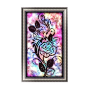 KAYI 5D Diamond Painting Colourful Dreamy Flower Partial-drilled Rhinestone Hand Craft Painting Home Decor