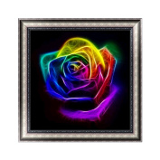 KAYI 5D Diamond Painting Colourful Rainbow Dreamy Flower Partial-drilled Rhinestone Hand Craft Painting Home Decor