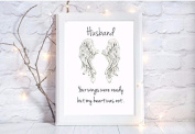 husband your wings were ready my heart was not memory a4 glossy print poster UNFRAMED picture memorial