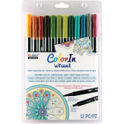Colour In Double-Ended Markers 12/Pkg-Natural