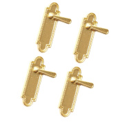 MagiDeal 4 Pieces Dollhouse Miniature Alloy Door Locks 1/12 Dolls House Accessories