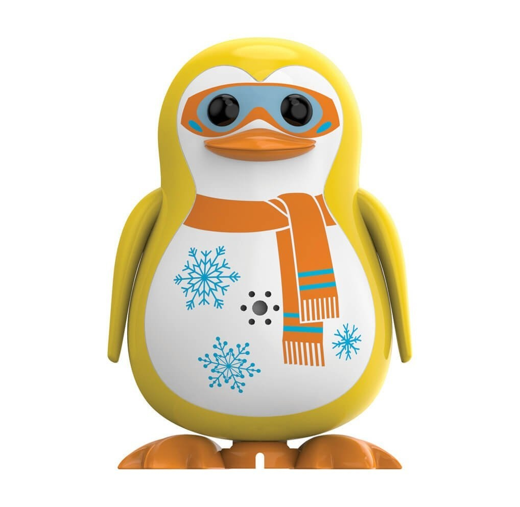 Digi Penguins - Whistling, Singing, & Dancing Robotic DigiPenguin Toy -  With 55 Songs & Honks! (Yellow)
