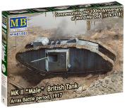 "Masterbox 1:72 Scale ""Mk II Male British Tank, Arras Battle Period 4870cm Assembly Parts"