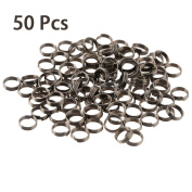 CloudWhisper 50Pcs/ Lot Professional Silver Dart Shaft Stainless Steel Rings for Nylon Darts Shafts Dart Accessories