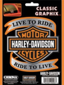 Harley-Davidson - Live to Ride with Bar & Shield