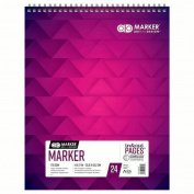 CHARTPAK, INC. 26061302012 AD MARKER MARKER PAD TOP WIREBOUND 24SH 175GSM 14X17