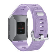Classic Strap for Fitbit Ionic Watch, bayite Replacement Classic TPU Silicone Sport Band, Women Men, Small/Large Size