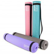 Core Balance Non-Slip PVC Foam Exercise Mat Gym Yoga Pilates With Strap 0.6cm