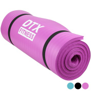 DTX Fitness Extra Thick 15mm NBR Foam Exercise Mat - Choice of Colours