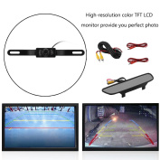 11cm TFT LCD Monitor Mirror Screen Waterproof High Resolution Digital Car Rear View Rearview Mirror With Wire Camera Set