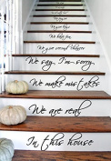 (33x60 cm) In this House We Do We Love, Words Text Quote Stairs or Wall Sticker Vinyl Mural Art Decal