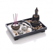 Zen Garden Meditation Buddha Statue Candle Incense Burner Holder