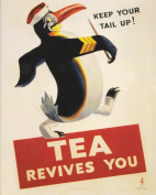 Tea Revives you propaganda World War METAL Wall Sign 15cm x 20cm Plaque Vintage Retro poster art picture print