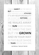 Amy Winehouse - Tears Dry On Their Own - Funky Lyric Art Print - A4 Size