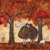 """Sam Toft """"Just Beginning To See The Light"""" Canvas Print, Cotton, Multi-Colour, 1.80 x 40.00 x 40.00 cm"""