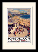 """National Railway Museum """"Scarborough (1)"""" Mounted and Framed Print, Multi-Colour, 30 x 40 cm"""
