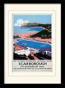 """National Railway Museum """"Scarborough (10)"""" Mounted and Framed Print, Multi-Colour, 30 x 40 cm"""