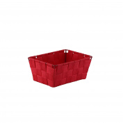 Axentia Metal Storage Basket, Red, 19 x 14 x 9 cm