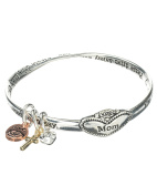 Mom Protection Twist Bangle Cross Love & Heart Charm Prayer Card You are more special than you know