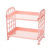 Pawaca Storage Shelves,Plastic Small Storage Shelves - 2 Tier Shelf Shelving,Kitchen Shelf Bathroom Organiser