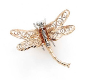 14k Two-Tone Gold Dragonfly Pin - 1.9 Grammes