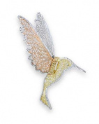 14k Tricolour Gold Humming Bird Pin - 3.2 Grammes
