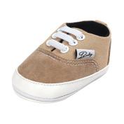 Sharplace Baby Soft Sole Shoes Sneakers Infant Walker Canvas Shoes for 0-18M Blue Khaki - Khaki, L