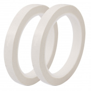 2Pcs 10mm Single Sided Self Adhesive Tape 50M Length Logo Tape White