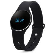 L16 Men's Smart Bracelet Watch, Bluetooth 4.0 SMS Reminder Sleep Tracker Calorie Burning for Sports BLACK