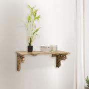 Gracie Oaks Bellevue Carved Accent Shelf