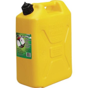 Moeller EPA Approved Spill Proof CARB 20.1l Military Style Diesel Can with CRC, Yellow