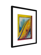 """Through the mirror - 11,81"""" x 15,75"""" inch (30x40 cm) - Picture with frame / Framed poster - Art print - wall art - artists, paintings, photography - Art"""