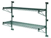 36cm Deep x 80cm Wide x 60cm High Adjustable 2 Tier Freezer Wall Mount Shelving Kit