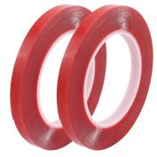 2Pcs 10mmx0.5mm Double Sided Waterproof Tape Adhesive Sticker Glue Strip 10M