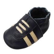 YIHAKIDS Baby Sneaker Genuine Leather Soft Suede Sole Toddler Shoes First Walker Moccasins Multi-Colours